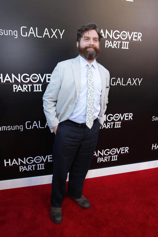 Zach Galifianakis en la premiere de 'R3sacón' en Los Ángeles