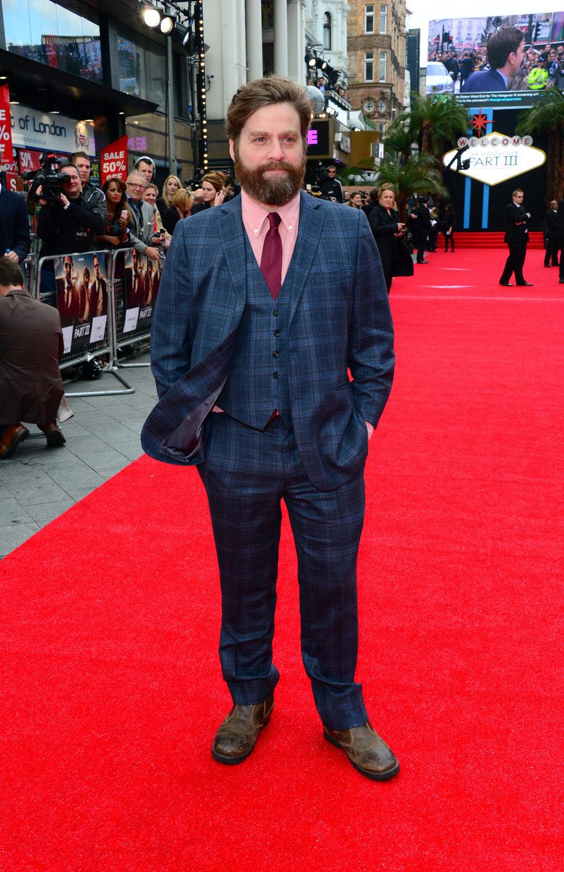 Zach Galifianakis en la premiere de 'R3sacón' en Londres