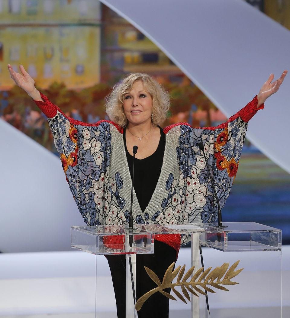 Kim Novak en la clausura del Festival de Cannes 2013