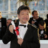 Hirokazu Koreeda en la clausura del Festival de Cannes 2013