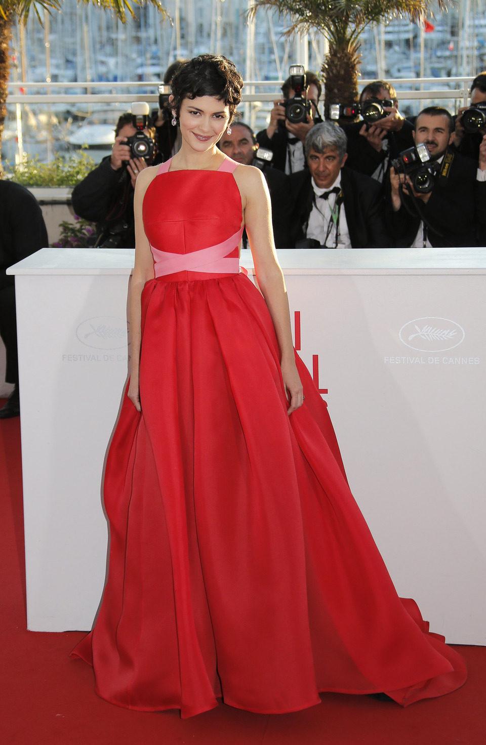 Audrey Tautou en la clausura del Festival de Cannes 2013