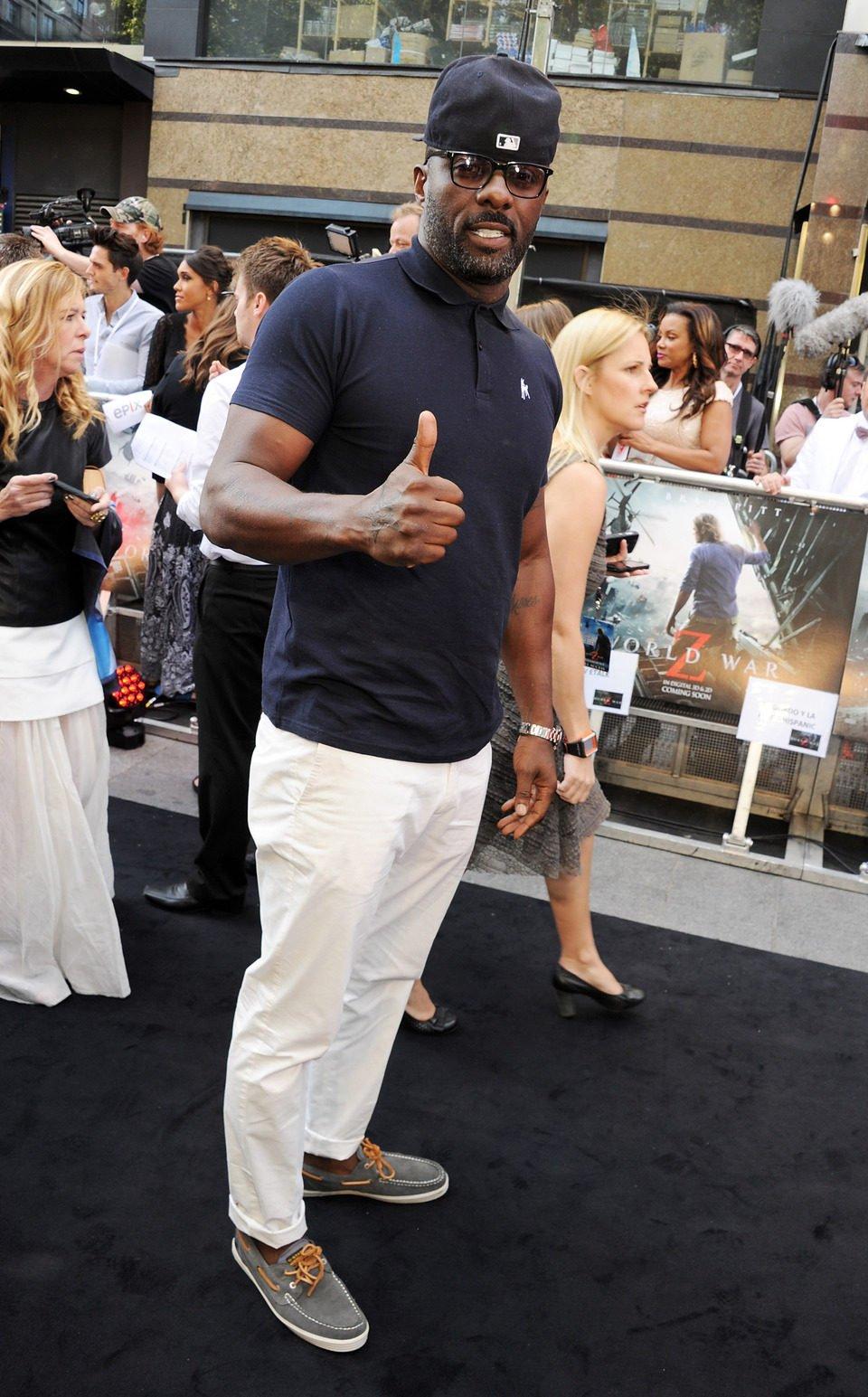 Idris Elba en el estreno de 'Guerra Mundial Z' en Londres