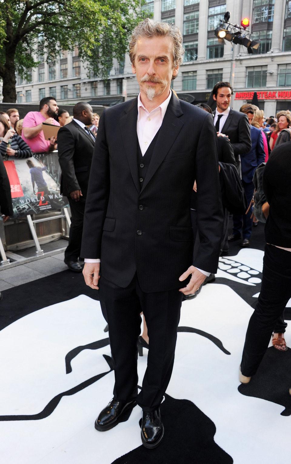 Peter Capaldi en el estreno de 'Guerra Mundial Z' en Londres
