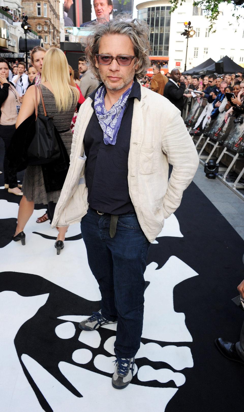 Dexter Fietcher en el estreno de 'Guerra Mundial Z' en Londres