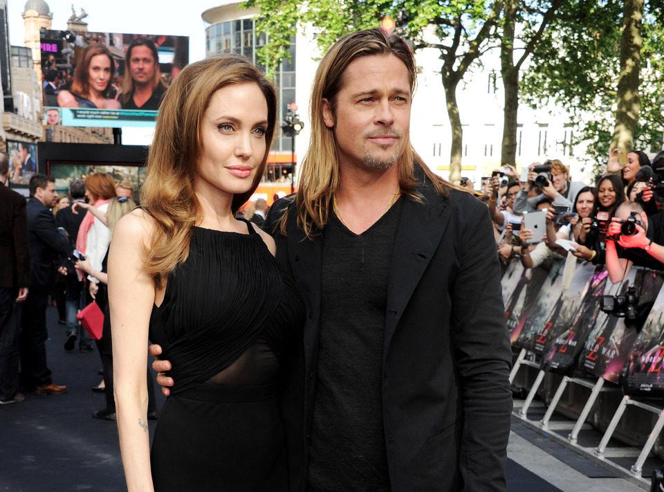 Angelina Jolie y Brad Pitt en el estreno de 'Guerra Mundial Z' en Londres