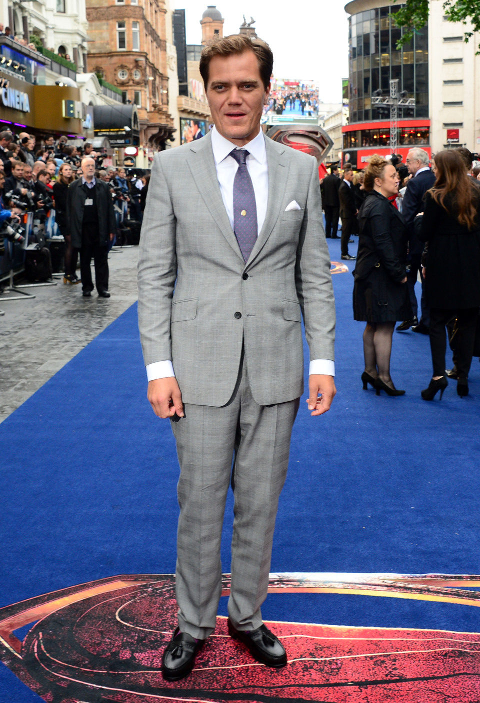 Michael Shannon en la premiere europea de 'El Hombre de Acero' en Londres