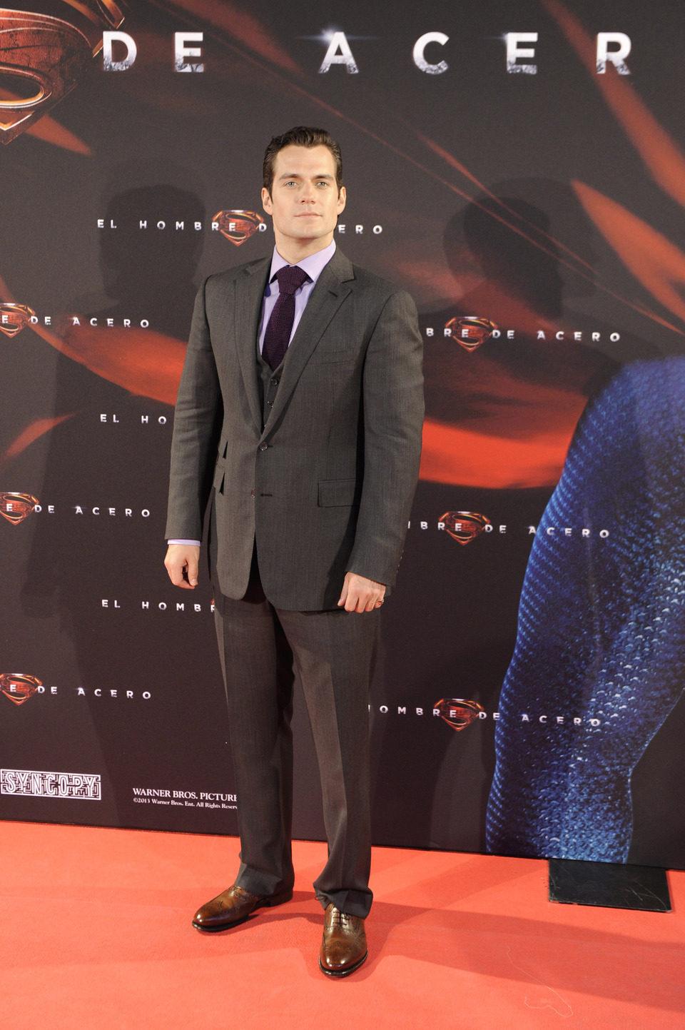 Henry Cavill en la premiere de 'El hombre de acero' en Madrid
