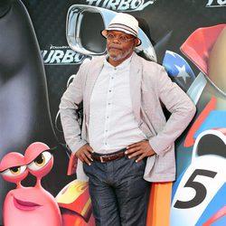Samuel L. Jackson en la presentación en Barcelona de 'Turbo'