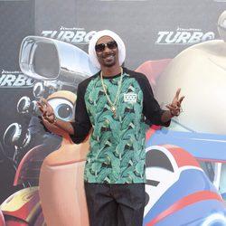 Snoop Dogg en la presentación en Barcelona de 'Turbo'