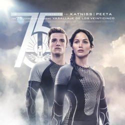 Póster español de Katniss y Peeta para 'Los Juegos del Hambre: En llamas'