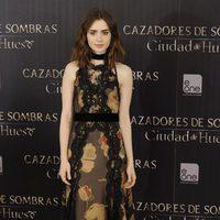 Lily Collins en el photocall de 'Cazadores de Sombras: Ciudad de Hueso' en Madrid