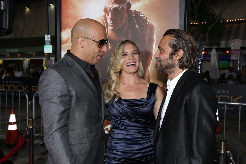 Vin Diesel, Katee Sackhoff y Jordi Mollà en la premiere mundial de 'Riddick' en Los Angeles