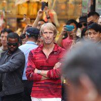 Michael Bay en el rodaje de 'Transformers 4: La era de la extinción' en Hong Kong