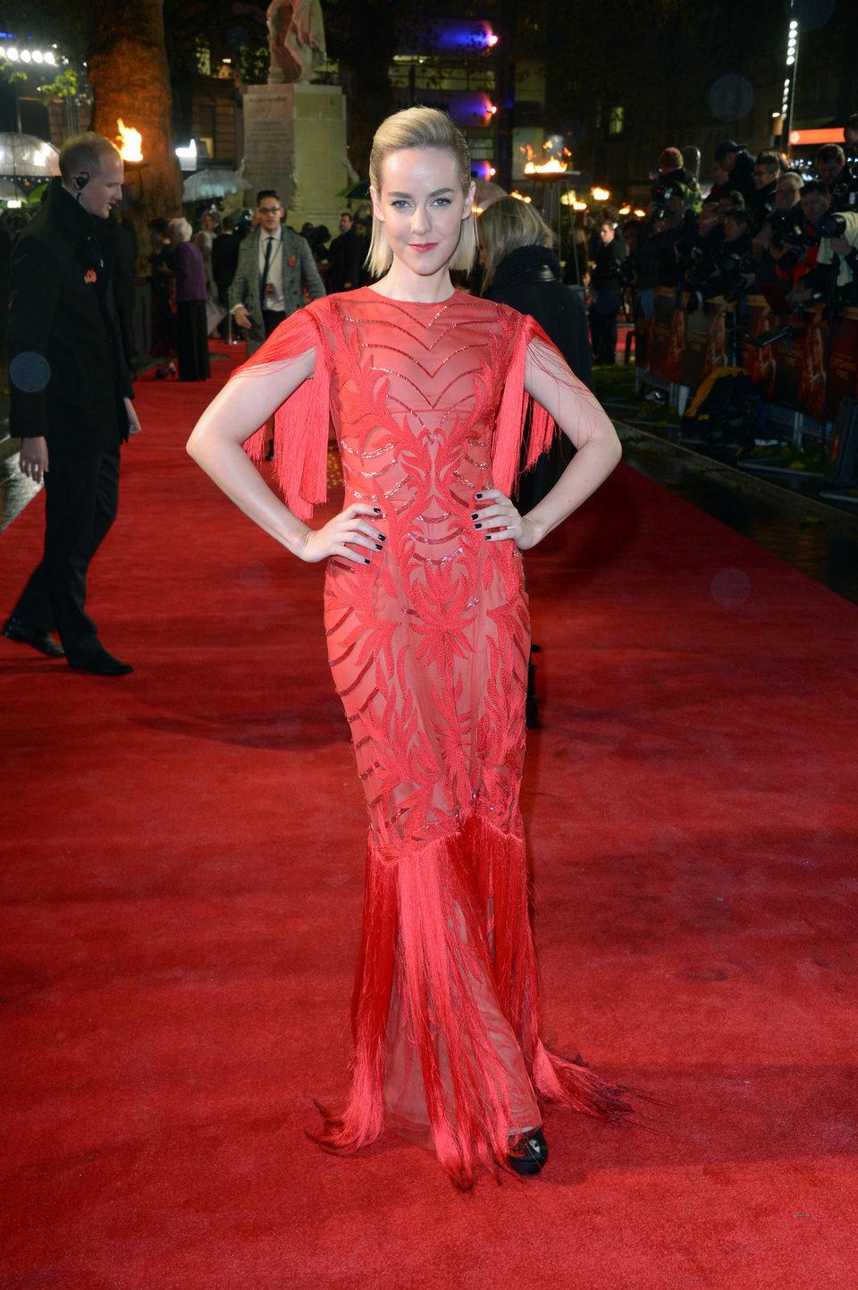 Jena Malone en la premiere mundial de 'Los Juegos del Hambre: En llamas' en Londres
