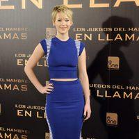 Jennifer Lawrence en la presentación de 'Los Juegos del Hambre: En llamas' en Madrid