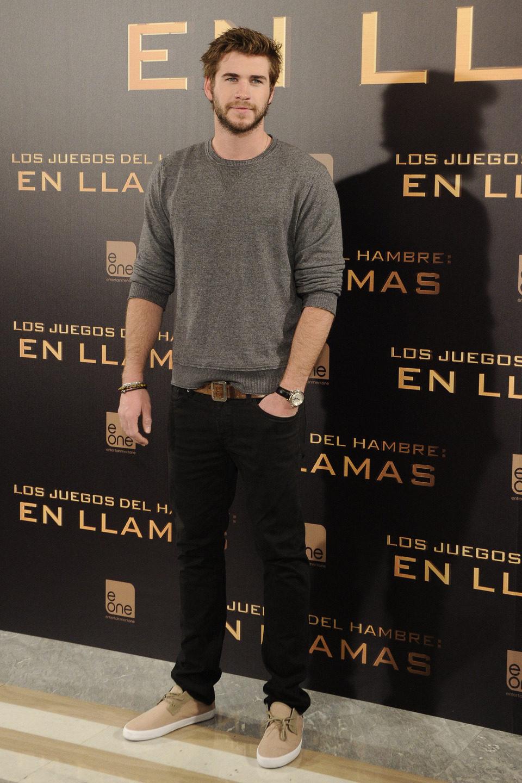 Liam Hemsworth en la presentación de 'Los Juegos del Hambre: En llamas' en Madrid
