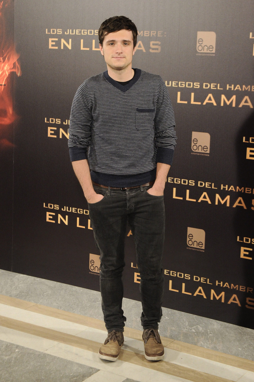 Josh Hutcherson en la presentación de 'Los Juegos del Hambre: En llamas' en Madrid