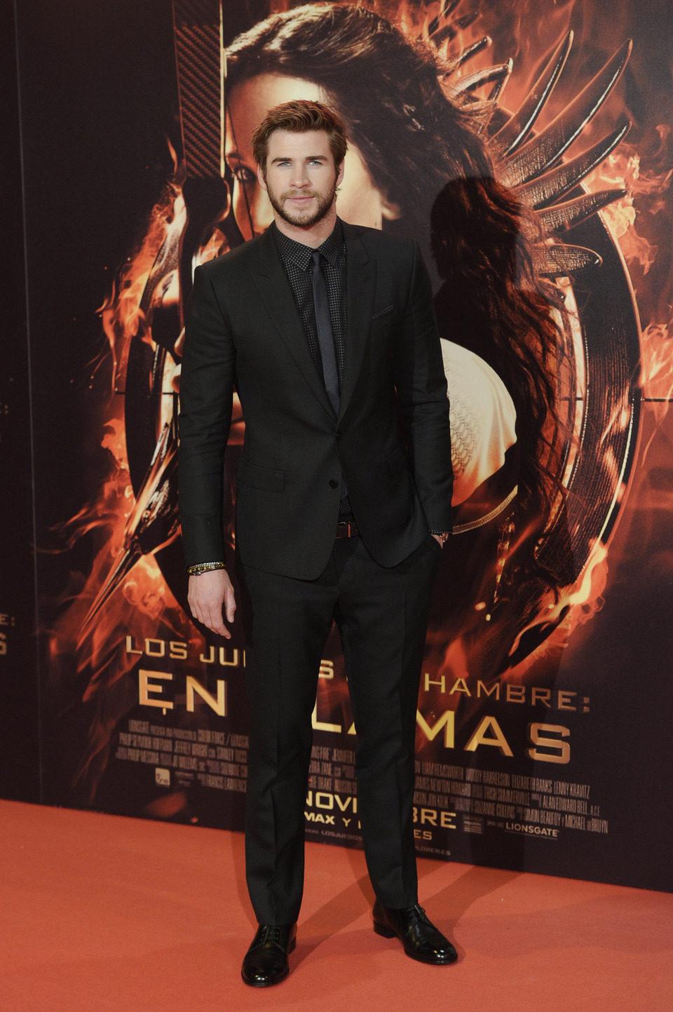 Liam Hemsworth en la premiere de 'Los Juegos del Hambre: En llamas' en Madrid