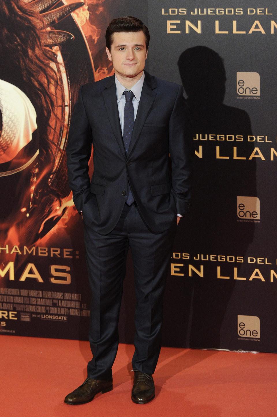 Josh Hutcherson en la premiere de 'Los Juegos del Hambre: En llamas' en Madrid