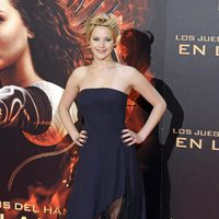 Jennifer Lawrence en la premiere de 'Los Juegos del Hambre: En llamas en Madrid'