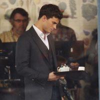 Jamie Dornan, camarero improvisado en el rodaje de 'Cincuenta sombras de Grey' en Vancouver