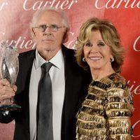Bruce Dern y Jane Fonda en la gala de premios del Festival Internacional de Palm Springs