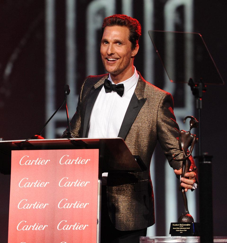 Matthew McConaughey en la gala de premios del Festival Internacional de Palm Springs