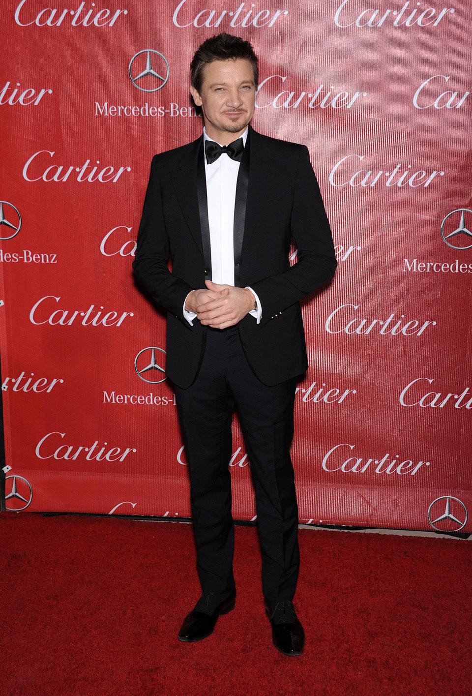 Jeremy Renner en la gala de premios del Festival Internacional de Palm Springs