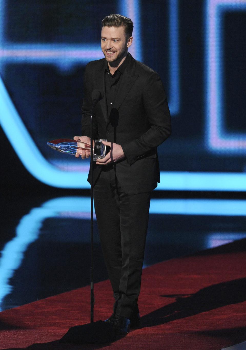 Justin Timberlake en los People's Choice Awards 2014