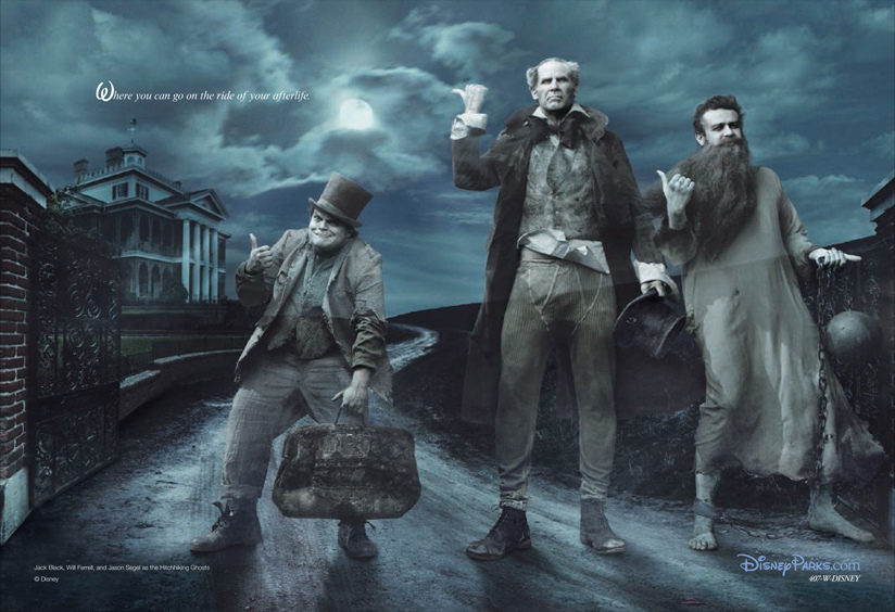 Jack Black, Will Ferrell y Jason Segel como los fantasmas de 'La mansión encantada'
