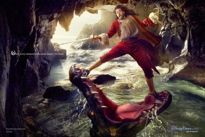 Russell Brand como el Capitán Garfio de 'Peter Pan'