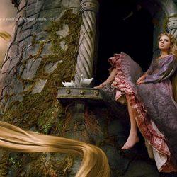 Taylor Swift como Rapunzel de 'Enredados'
