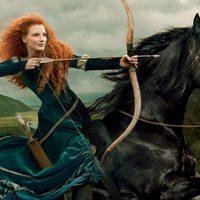 Jessica Chastain como Merida de 'Brave (Indomable)'