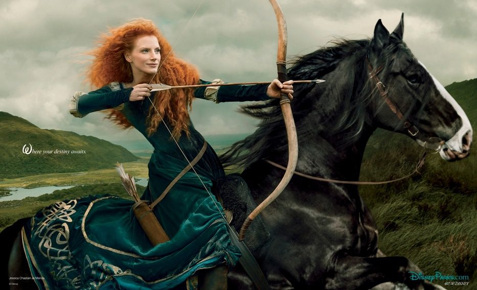Jessica Chastain como Merida de 'Brave (Indomable)'