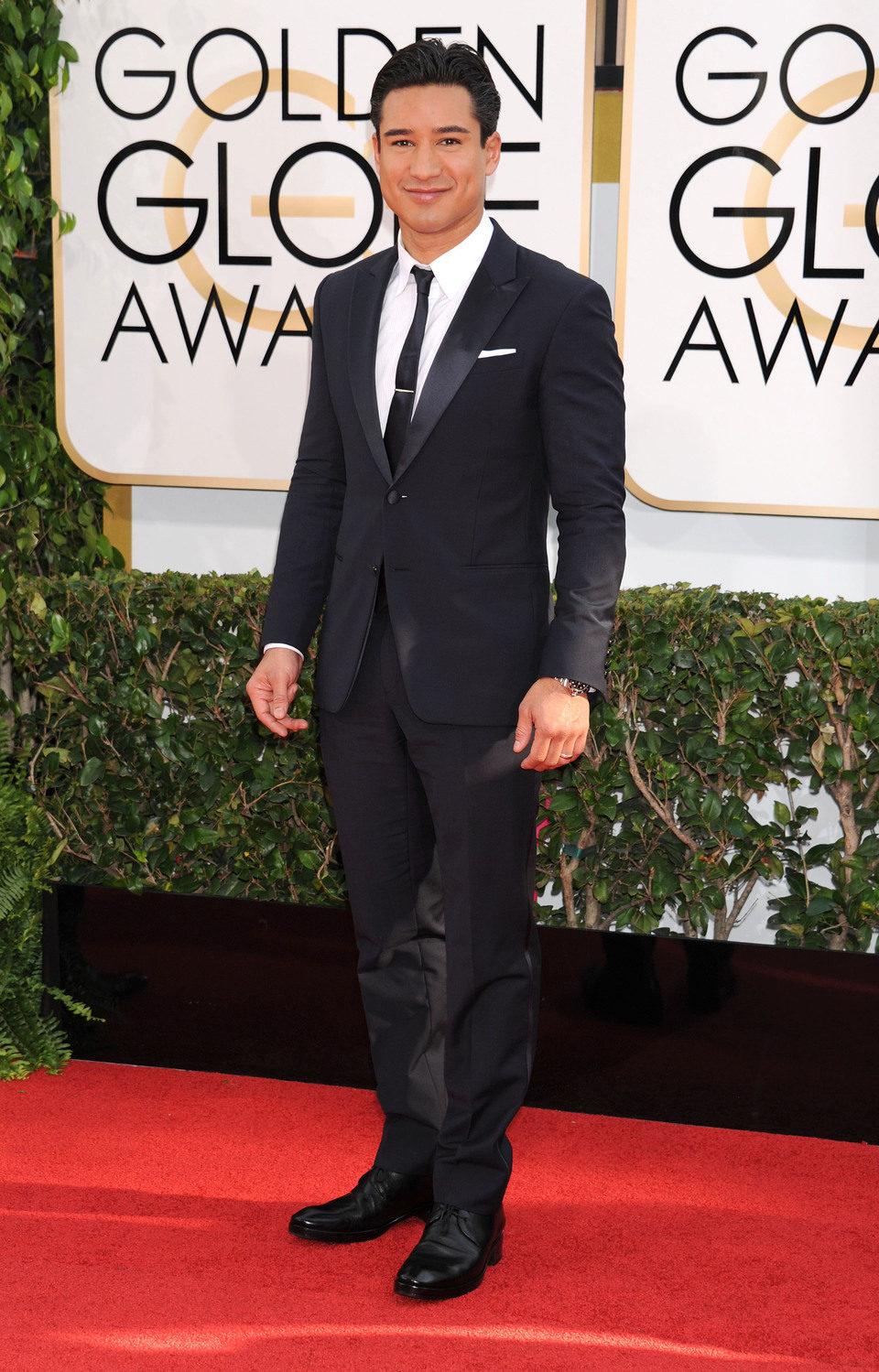 Mario Lopez en los Globos de Oro 2014
