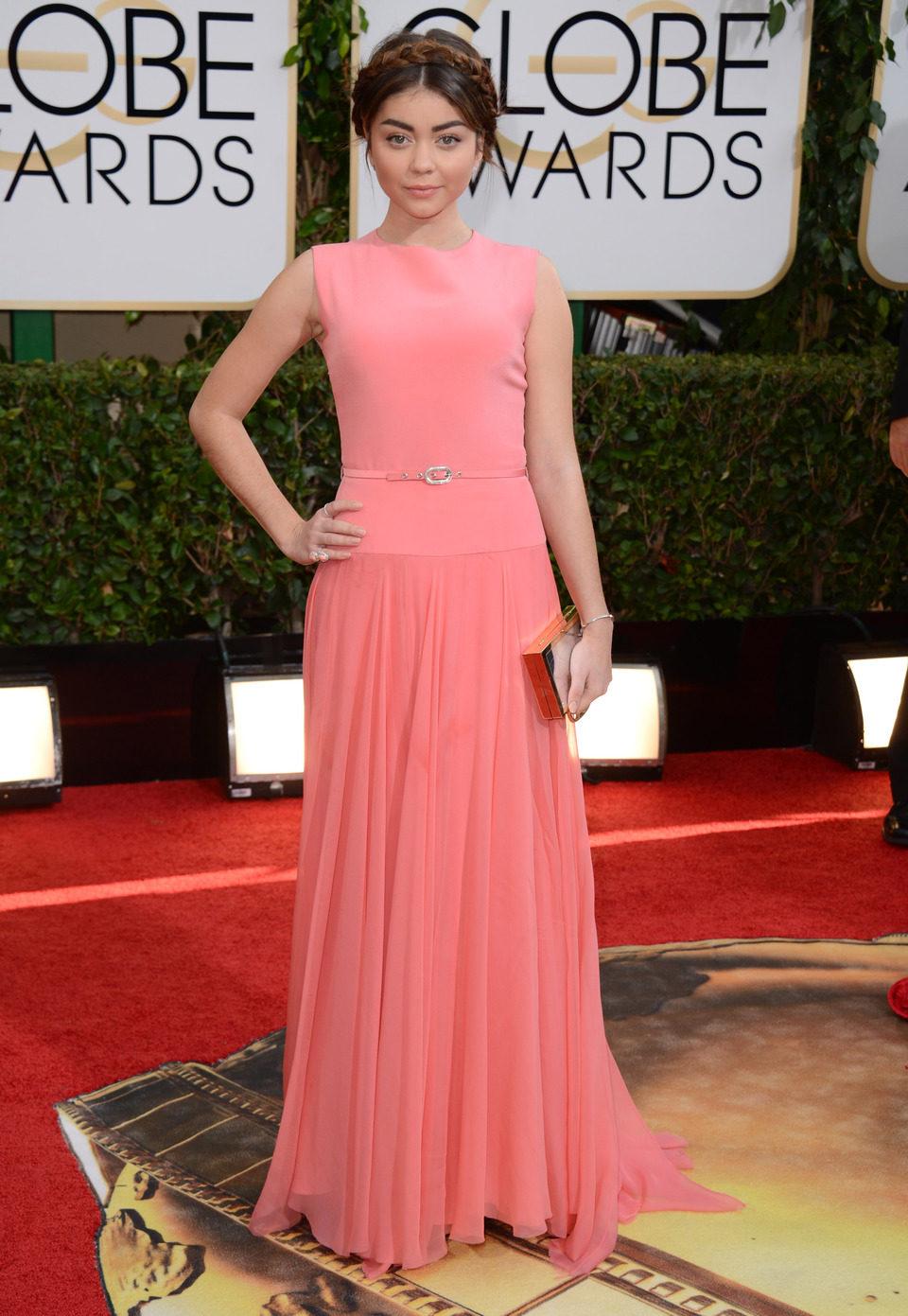 Sarah Hyland en los Globos de Oro 2014