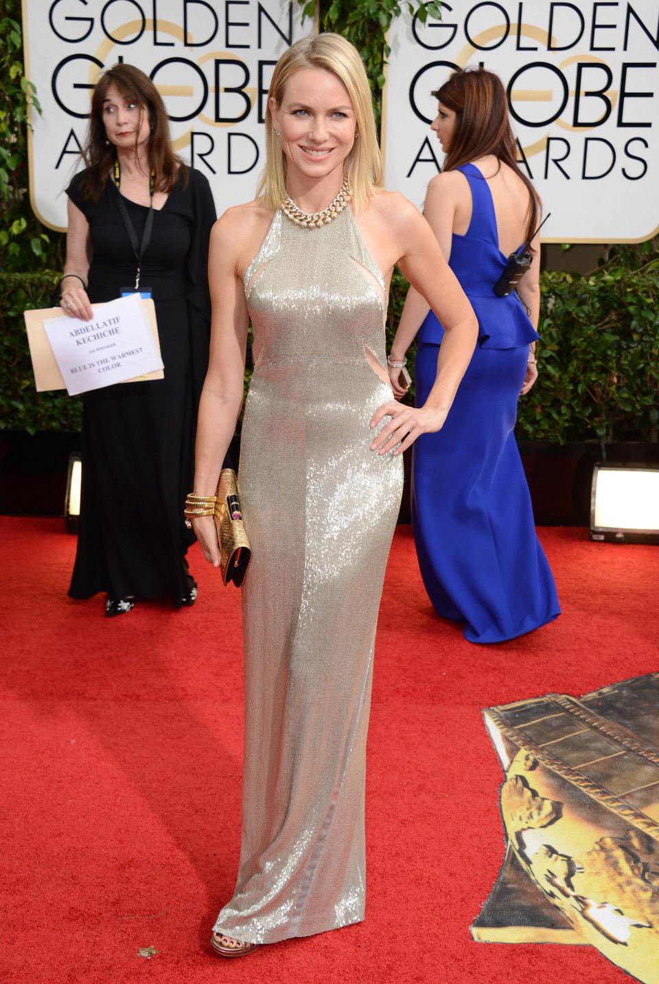 Naomi Watts en los Globos de Oro 2014