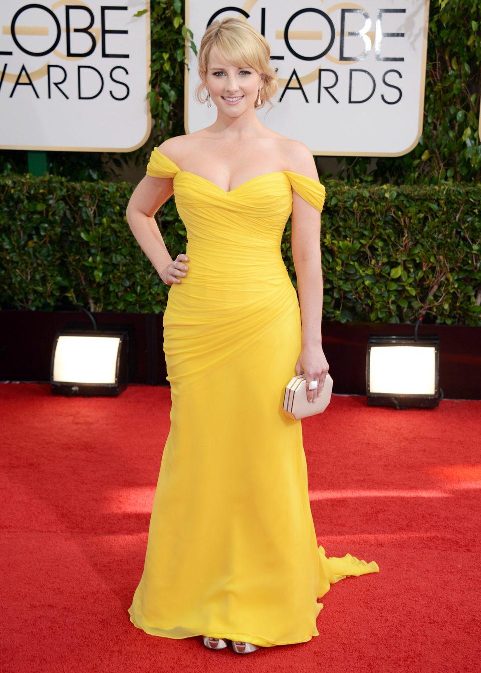 Melissa Rauch en los Globos de Oro 2014
