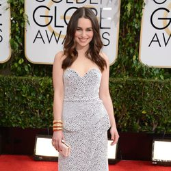 Emilia Clarke en los Globos de Oro 2014