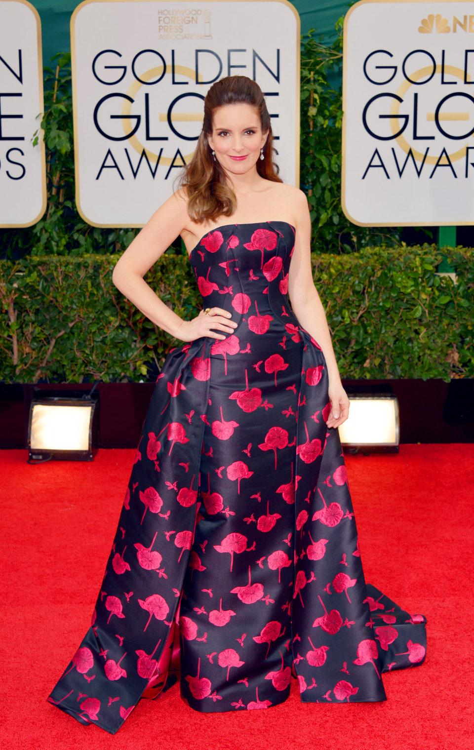 Tina Fey en los Globos de Oro 2014