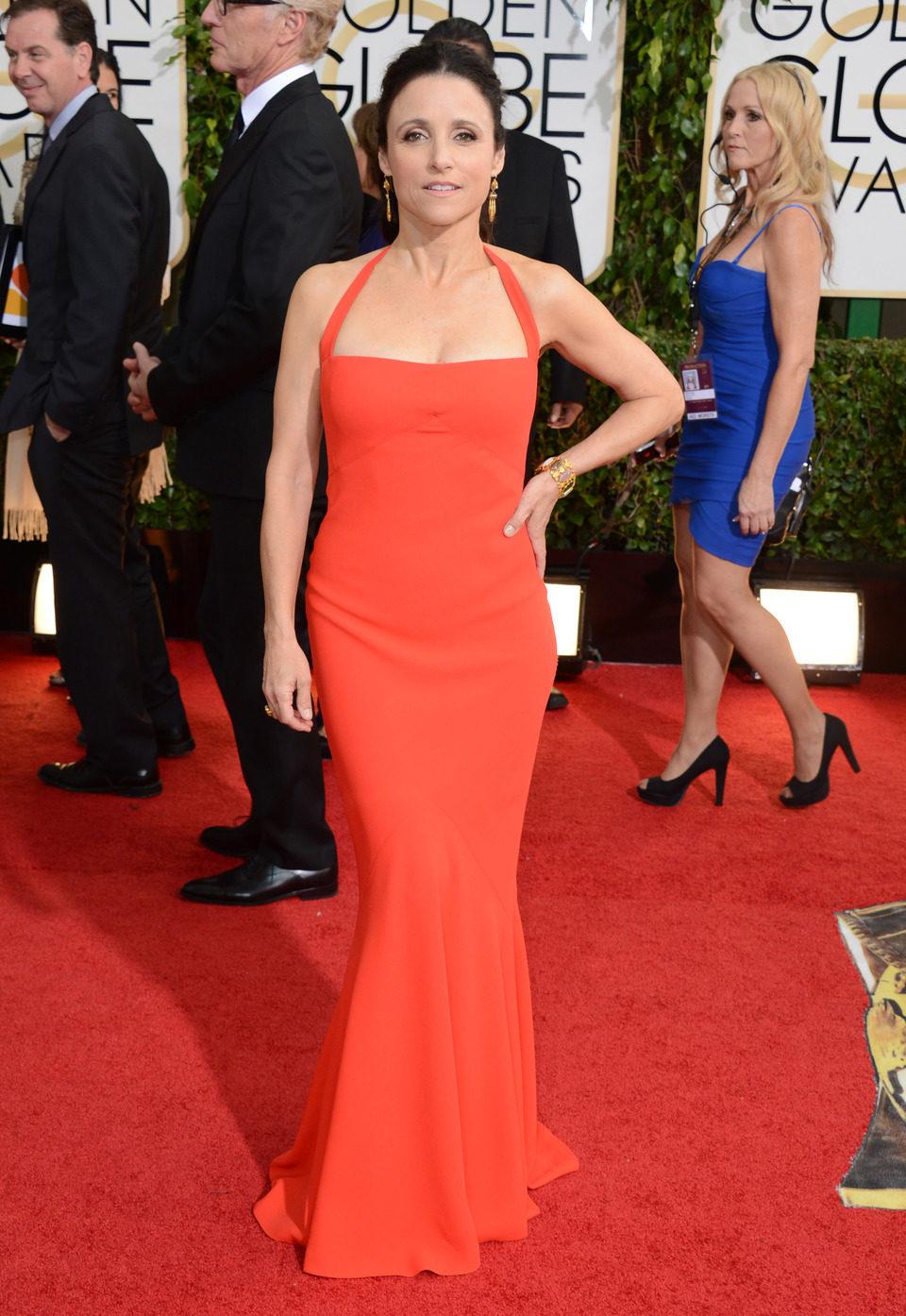 Julia Louis-Dreyfus en los Globos de Oro 2014