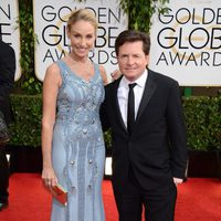 Michael J. Fox y Tracy Pollan en los Globos de Oro 2014
