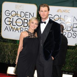 Elsa Pataky y Chris Hemsworth en los Globos de Oro 2014
