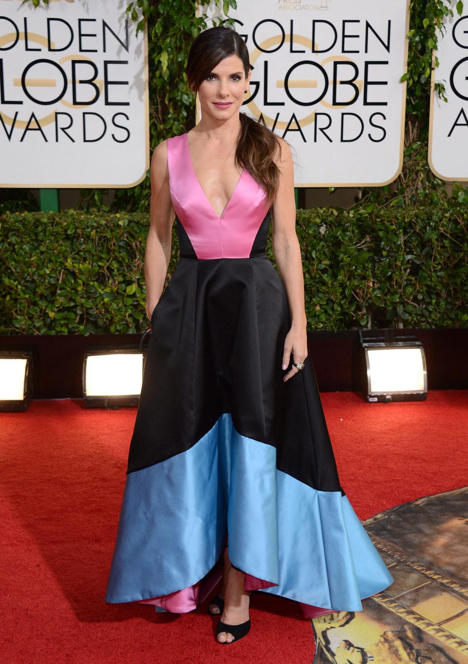 Sandra Bullock en los Globos de Oro 2014