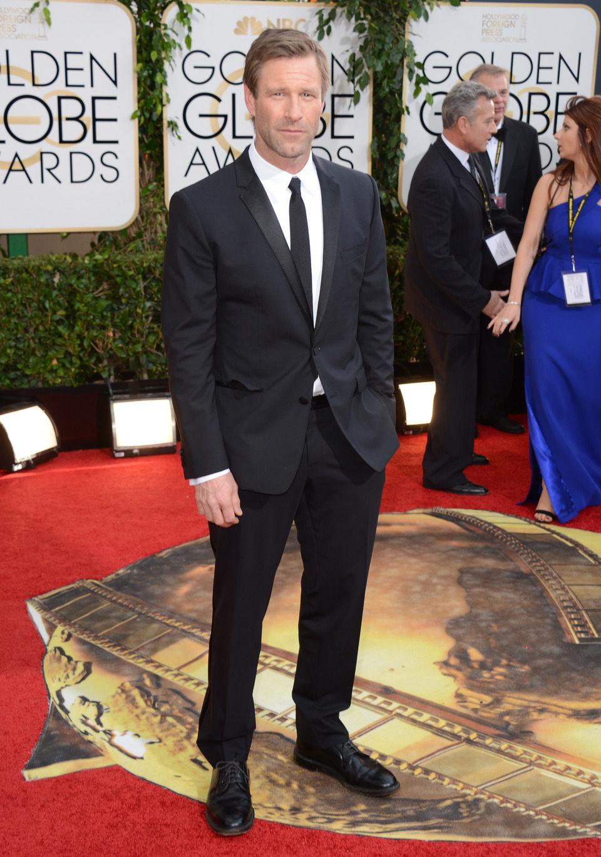 Aaron Eckhart en los Globos de Oro 2014