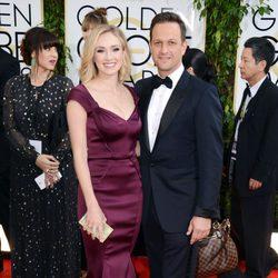 Josh Charles y Sophie Flack en los Globos de Oro 2014