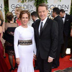 Bryan Cranston y Robin Dearden en los Globos de Oro 2014