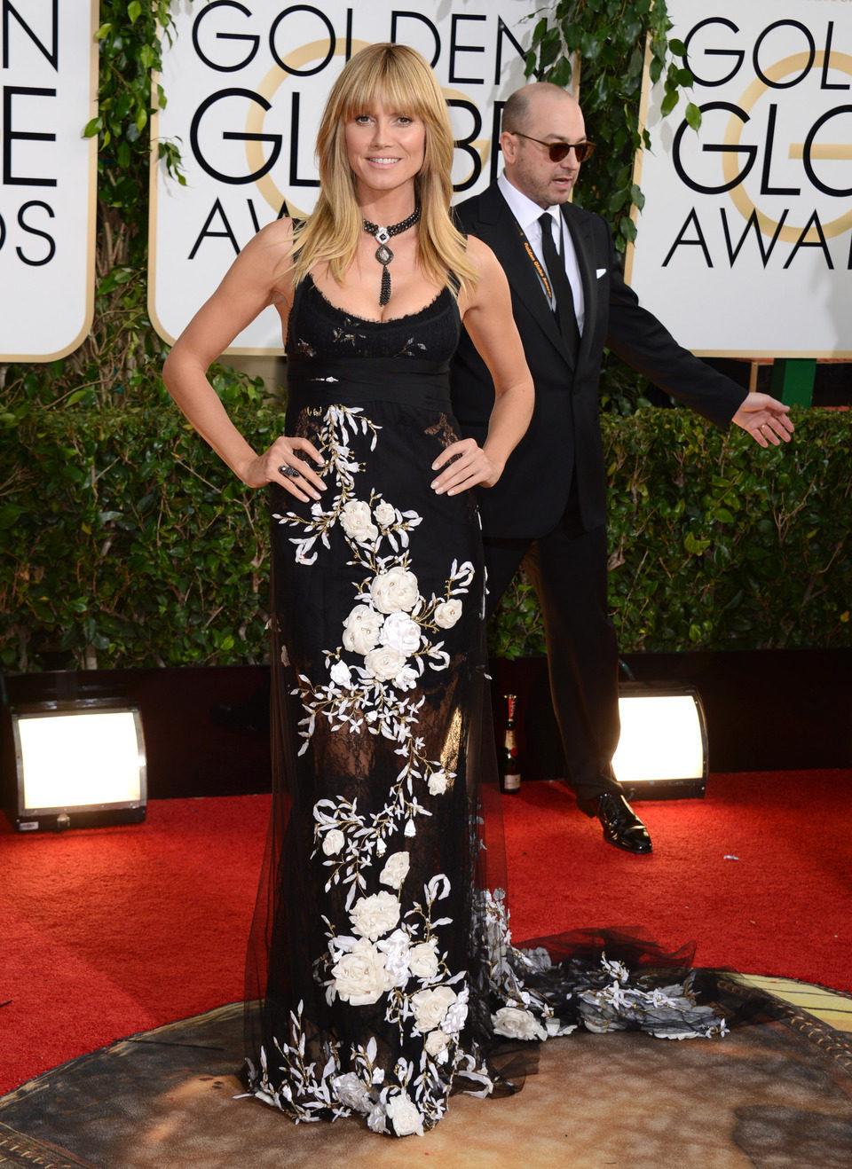 Heidi Klum en los Globos de Oro 2014
