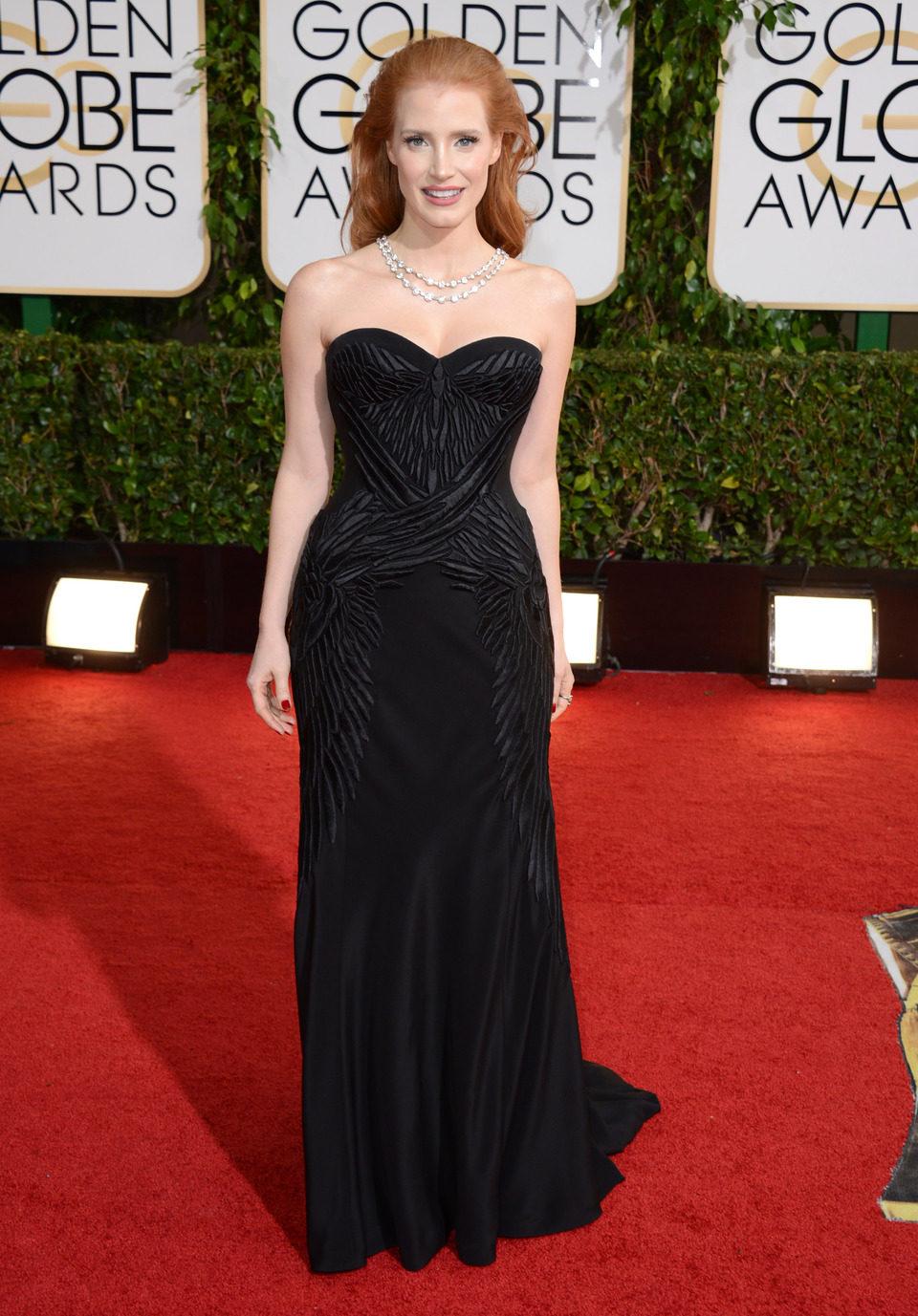 Jessica Chastain en los Globos de Oro 2014