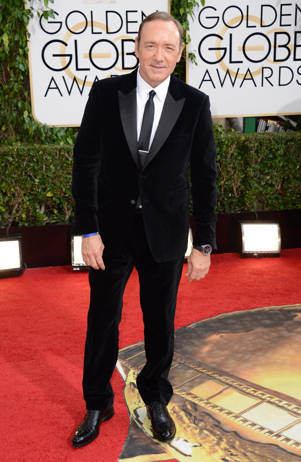 Kevin Spacey en los Globos de Oro 2014